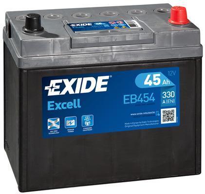 Батарея аккумуляторная Exide Excell 12В 45Ач 330A(EN) R+
