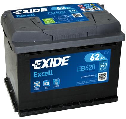 Батарея аккумуляторная Exide Excell 12В 62Ач 540A(EN) R+ Exide EB620