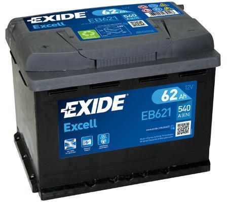 Батарея аккумуляторная Exide Excell 12В 62Ач 540A(EN) L+