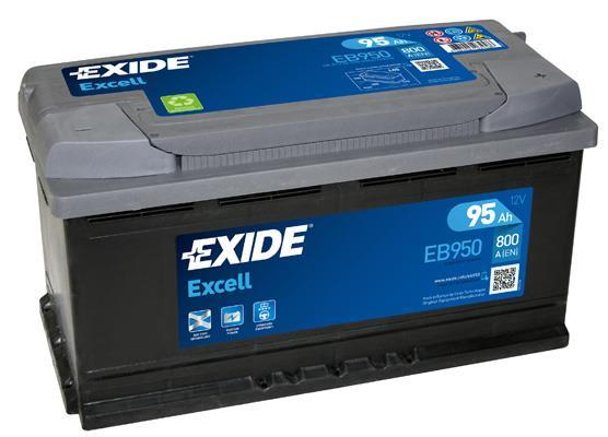 Батарея аккумуляторная Exide Excell 12В 95Ач 800A(EN) R+