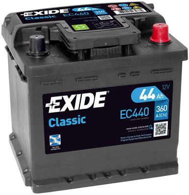 Батарея аккумуляторная Exide Classic 12В 44Ач 360A(EN) R+ Exide EC440