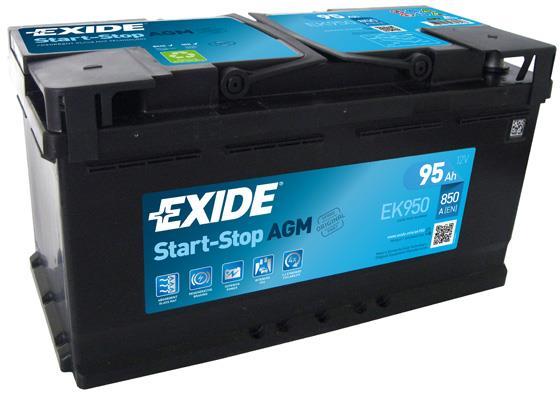 Батарея аккумуляторная Exide Start-Stop AGM 12В 95Ач 850A(EN) R+