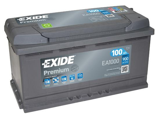 Батарея аккумуляторная Exide Premium 12В 100Ач 900A(EN) R+ Exide EA1000