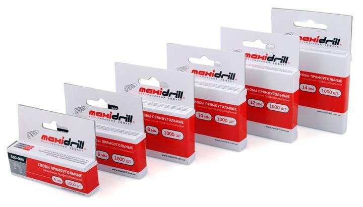 Скобы прямоугольные закаленные профессиональные, 1000шт., 10мм MaxiDrill 500-010
