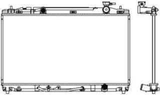 Радиатор охлаждения двигателя Sakura 3461-8506