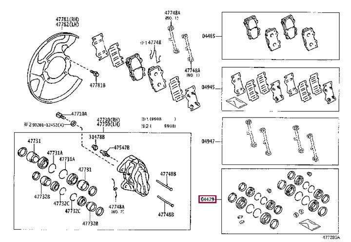 0447960040 Toyota - Ремкомплект тормозного суппорта 04479-60040 - купить,  цена | EXIST.UA