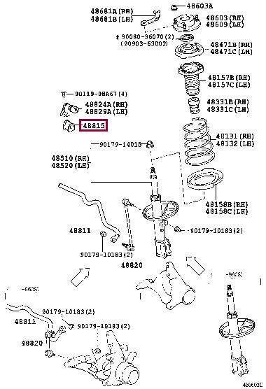 Втулка стабилизатора переднего Toyota 48815-06050