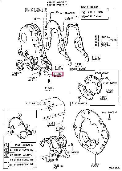 Сальник вала коленчатого передний Toyota 90311-38086
