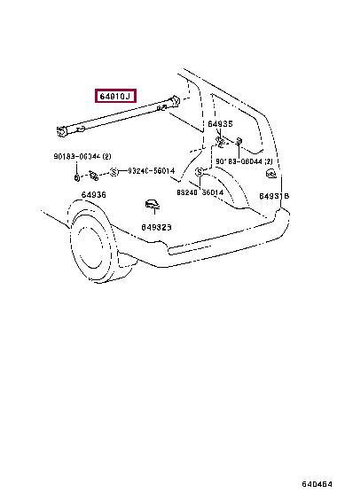 Тент Toyota 64910-60060-B1