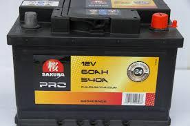 Батарея аккумуляторная Sakura 12В 60Ач 540A(EN) L+
