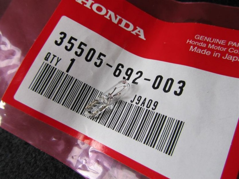 Лампа накаливания Honda 35505-692-003