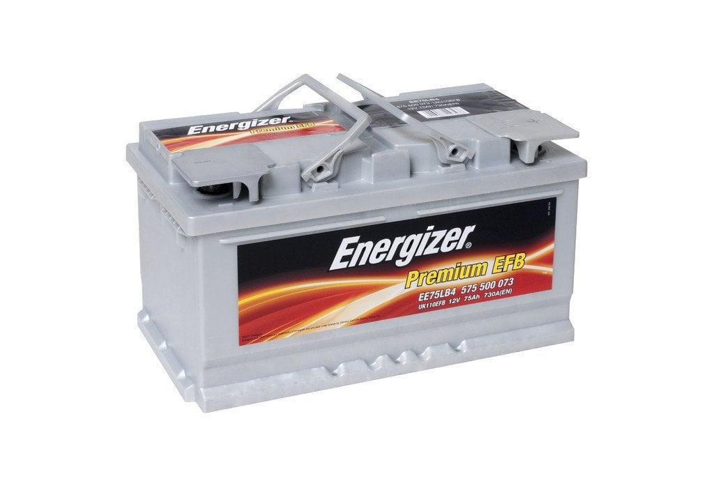 Батарея аккумуляторная Energizer Premium EFB 12В 75Ач 730A(EN) R+