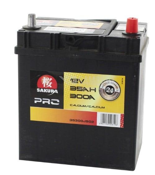 Батарея аккумуляторная Sakura 12В 35Ач 300A(EN) R+