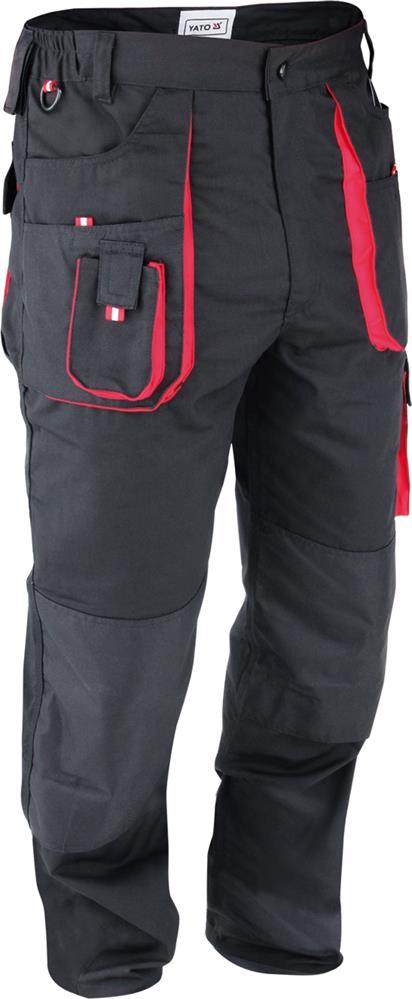 Штани робочі YATO чорно-червоні, розм. L (20) Yato YT-8027