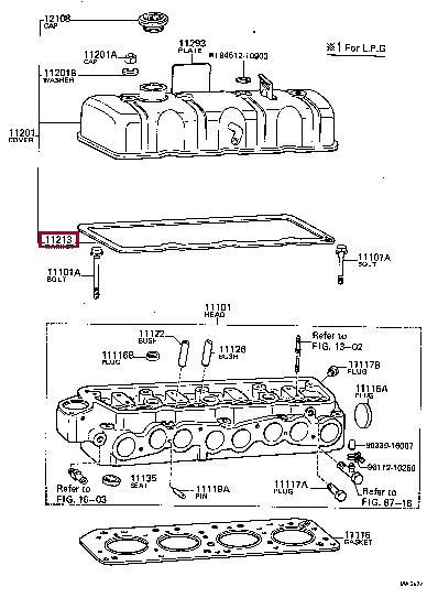 Прокладка клапанной крышки