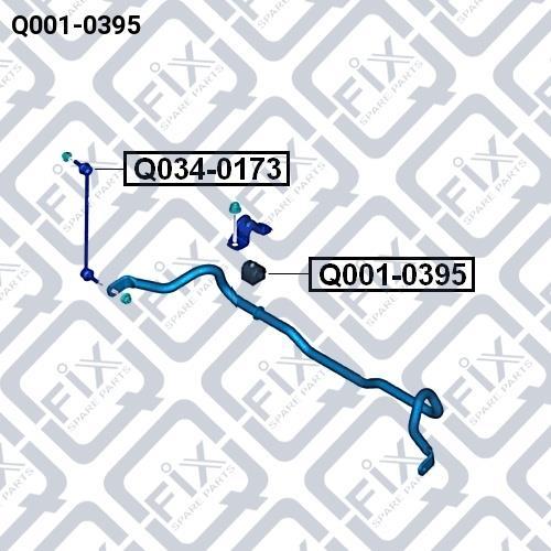 Втулка стабилизатора переднего Q-fix Q001-0395 - фото 3