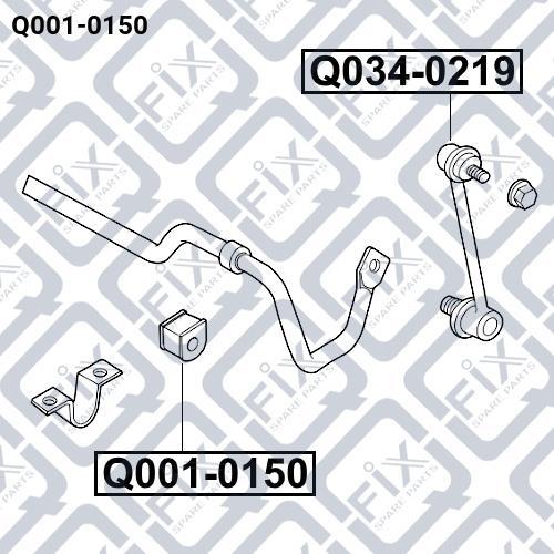 Втулка стабилизатора заднего Q-fix Q001-0150 - фото 3