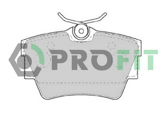 Колодки тормозные дисковые, комплект Profit 5000-1516