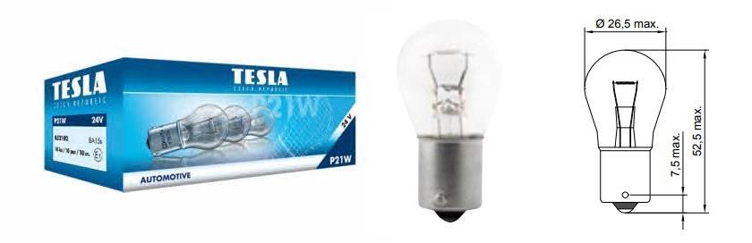 Лампа накаливания P21W 24V 21W