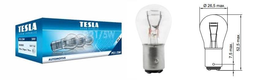 Лампа накаливания P21/5W 24V 21/5W