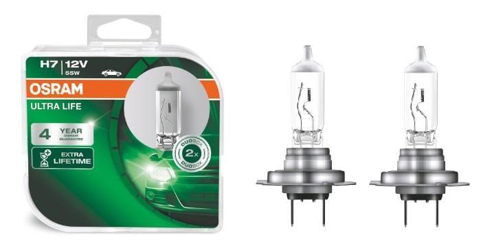 Лампа галогенная Osram Ultra Life H7 12V 55W (2 шт.)