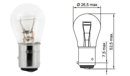 Лампа накаливания P21/4W 12V 21/4W