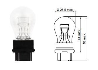 Лампа накаливания P27/7W 12V 27/7W