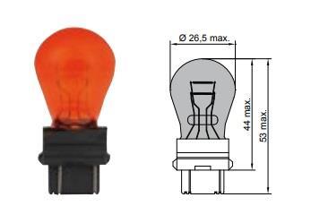 Лампа накаливания желтая PY27/7W 12V 27/7W