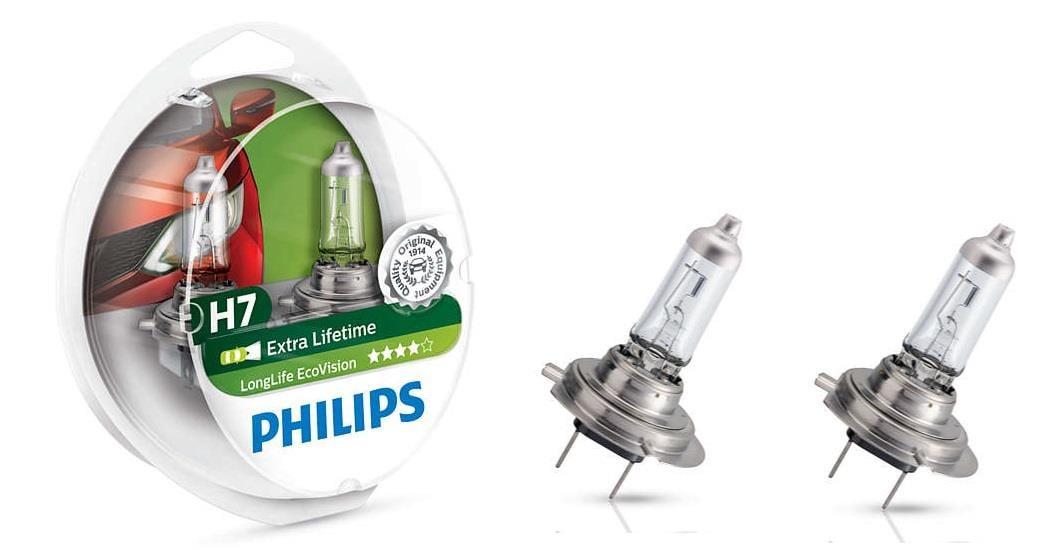 Лампа галогенная Philips LongLife EcoVision H7 12V 55W (2 шт.)