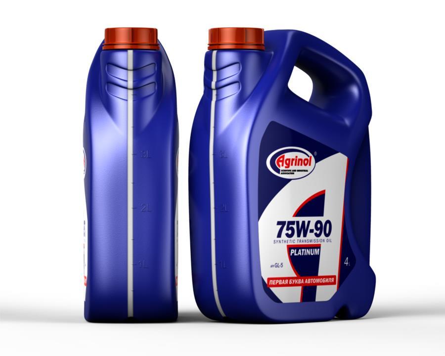 Масло трансмиссионное Agrinol Platinum 75W-90 GL-5, 4 л