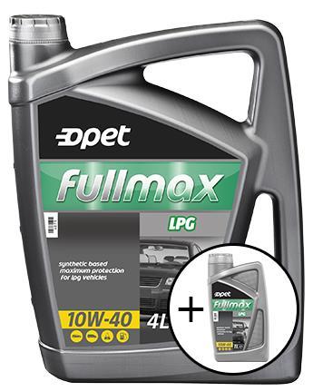 Набор Opet FULLMAX LPG 10W-40 4 л + FULLMAX LPG 10W-40 1 л