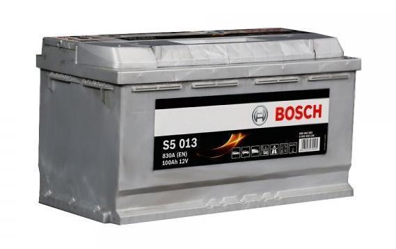 Батарея аккумуляторная Bosch S5 013 12В 100Ач 830A(EN) R+