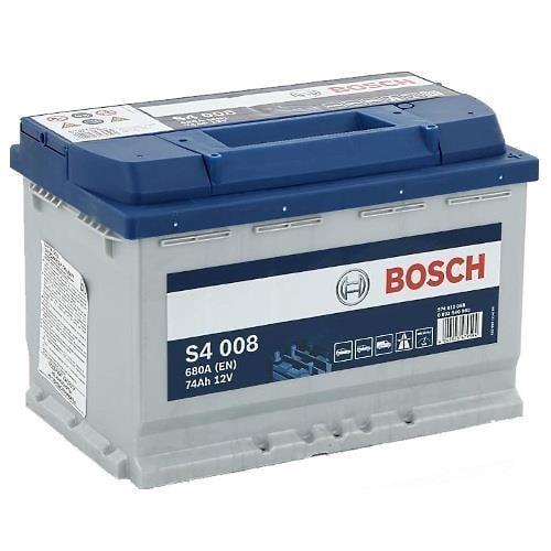 Батарея аккумуляторная Bosch S4 008 12В 74Ач 680A(EN) R+