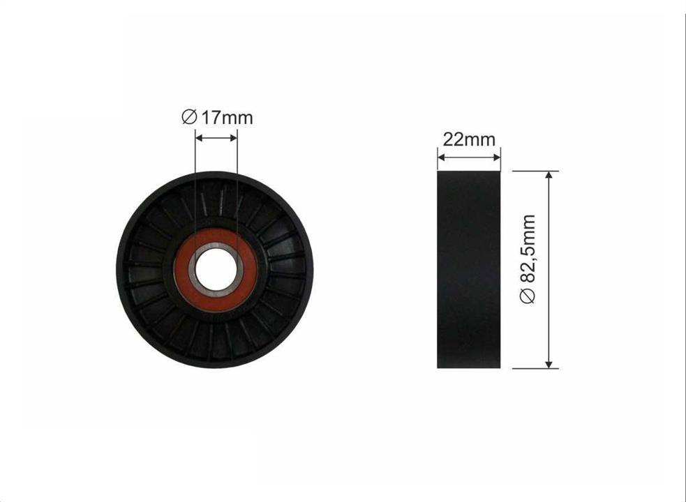 Ролик натяжной ремня поликлинового (приводного)