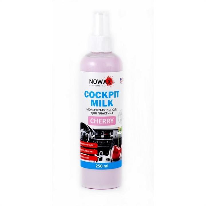 Молочко-полироль для пластика NOWAX Black Cockpit Milk Cherry 250 мл (NX25227)