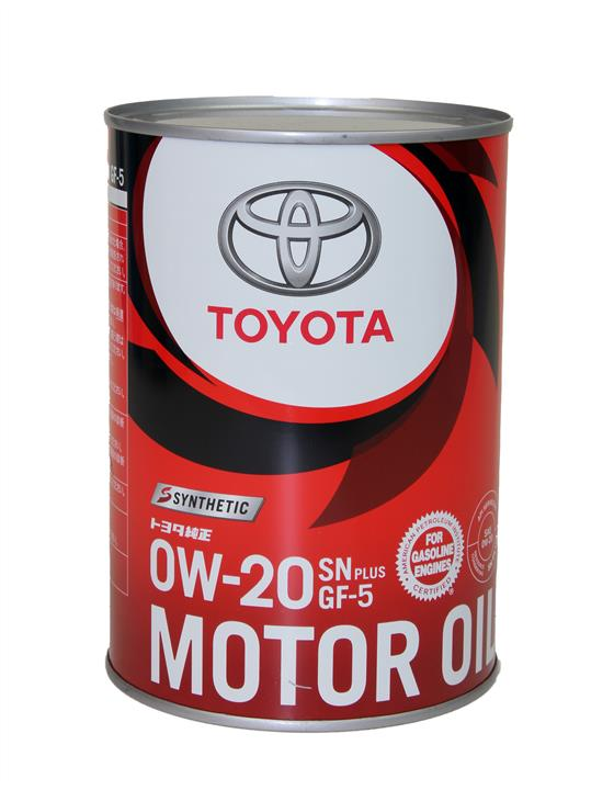 Масло моторное Toyota Genuine Motor Oil Sn Plus 0W-20 Gf-5 Synthetiс, 1 л