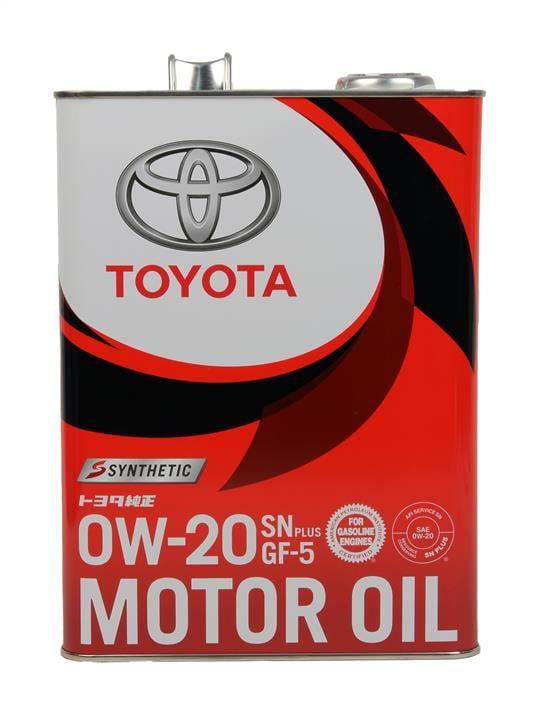 Масло моторное Toyota Genuine Motor Oil Sn Plus 0W-20 Gf-5 Synthetiс, 4 л