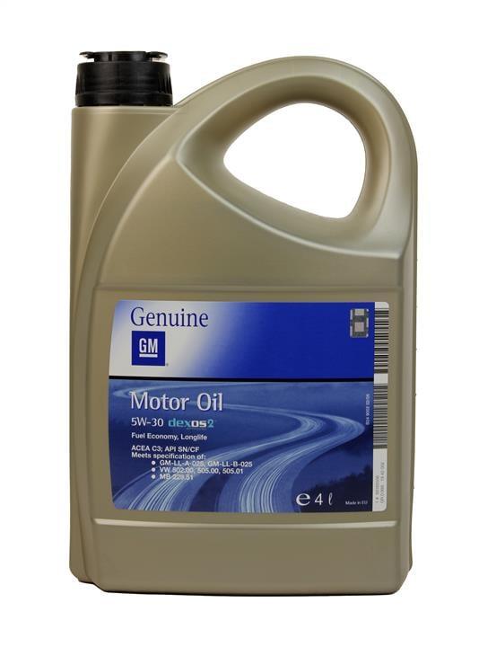 Масло моторное General Motors Dexos 2 5W-30, 4 л (OPEL 1942002, SAAB 1942002, GM 1942002, DAEWOO 1942002, GM 95599404)