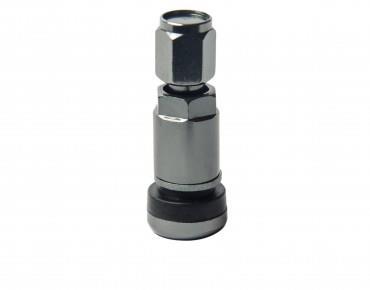 Вентиль для бескамерной шины Разборной Алюминий + Резина Серый