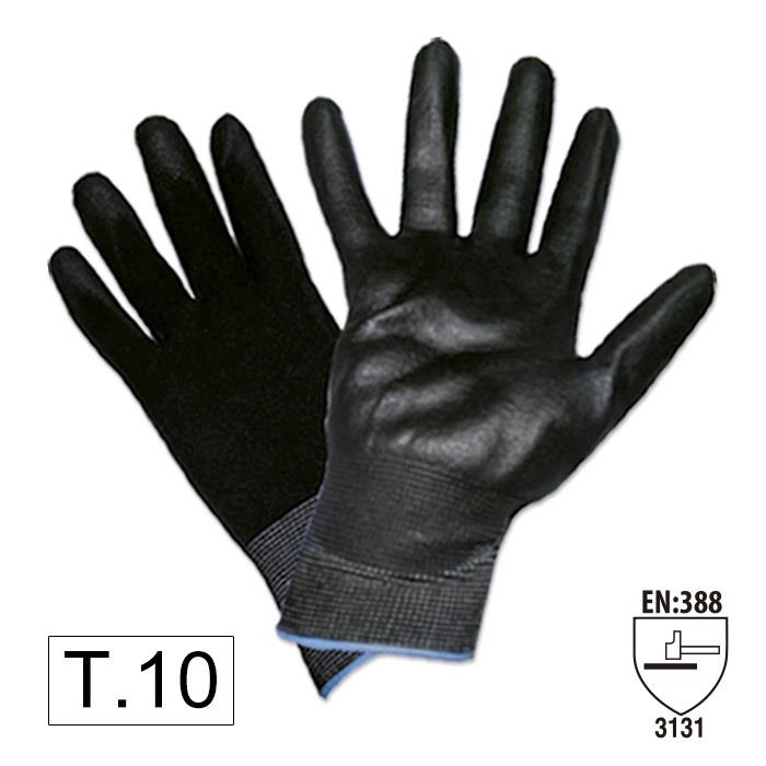 Перчатки с полиуретановым покрытием ладоней (Т.10)
