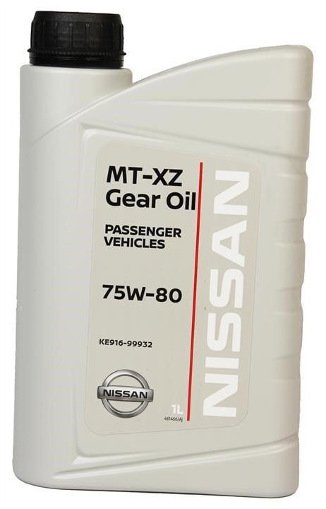 Масло трансмиссионное Nissan MT XZ Gear Oil 75W-80, 1 л