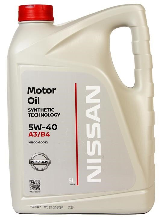 Масло моторное Nissan MOTOR OIL FS 5W-40 A3/B4, 5 л