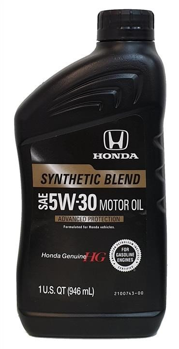 Масло моторное Honda Synthetic Blend 5W-30, 1 л (08798-9034)