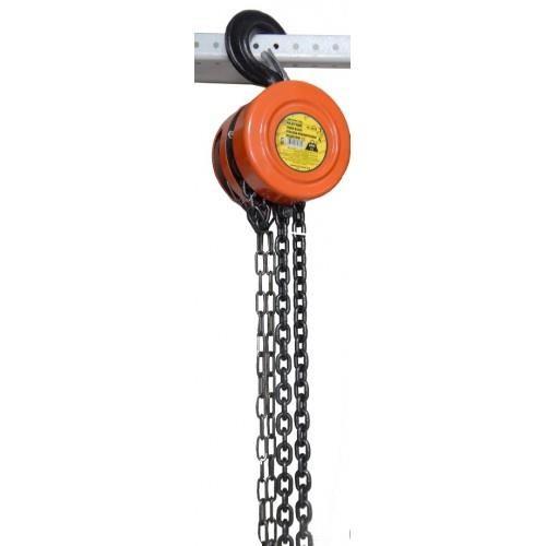 Лебедка механическая подвесная с фиксацией цепи натяжения, 3т (длина цепи - 3м) PARTNER PA-9030 - фото 3