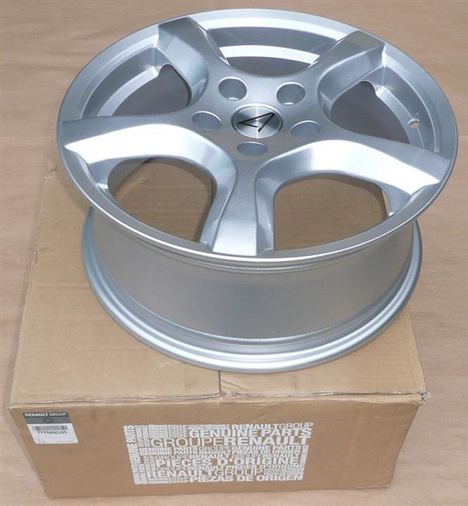 Диск колёсный легкосплавный Renault Stella 6.5x16 5x114.3 DIA 66.1 Silver Renault 77 11 430 395 - фото 4