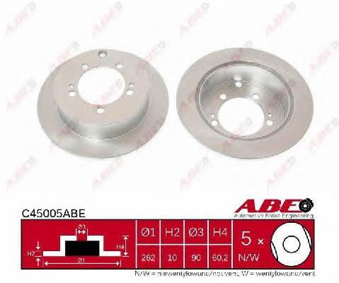 Диск тормозной ABE C45005ABE - фото 3