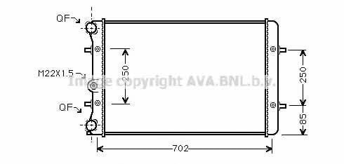 Радиатор охлаждения двигателя AVA AI2155
