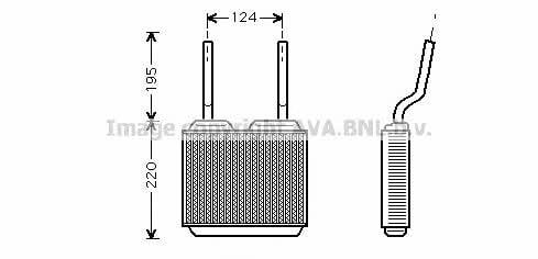 Радиатор отопителя салона