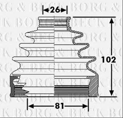 Пыльник приводного вала Borg & beck BCB6267