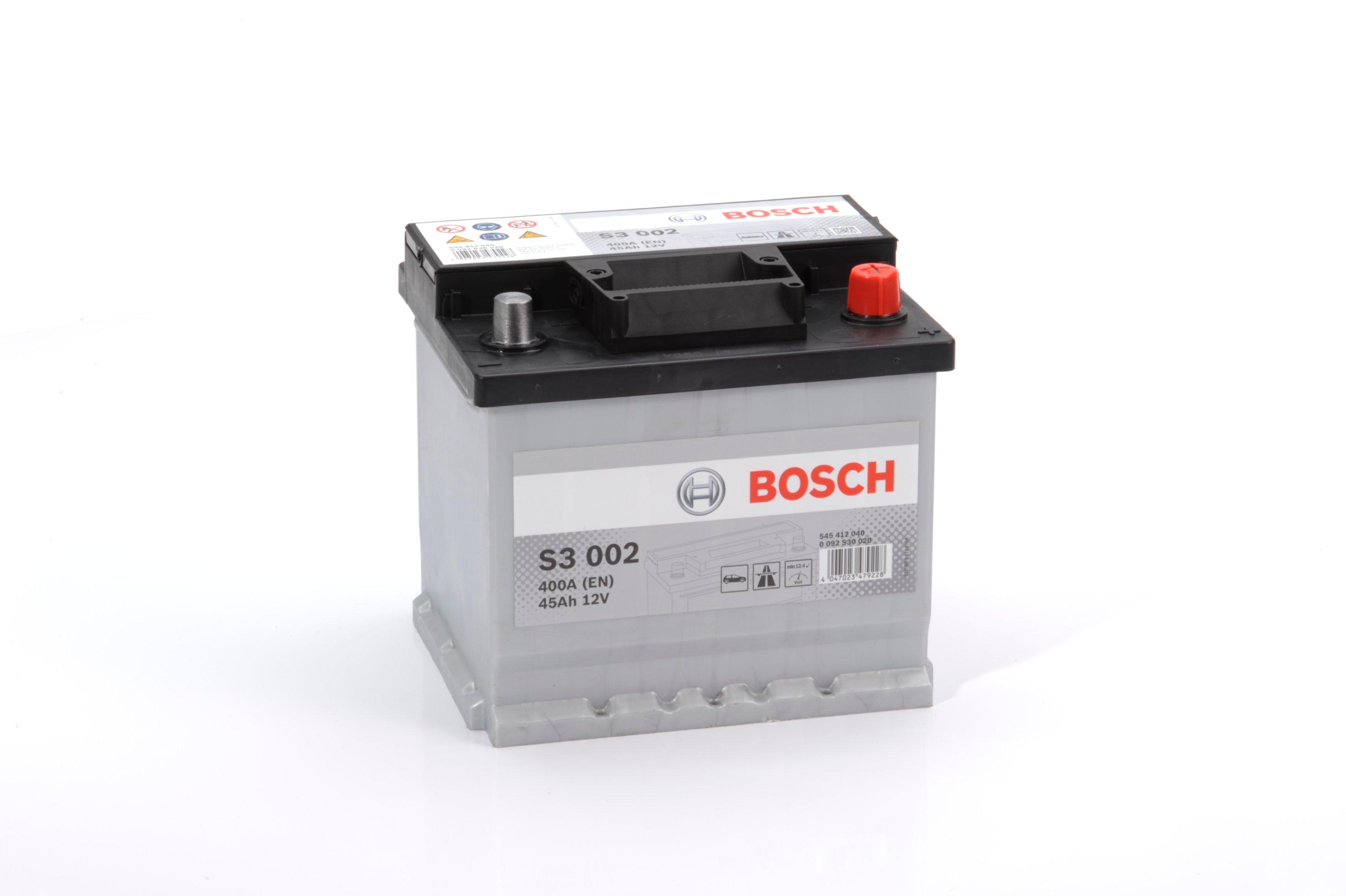 Батарея аккумуляторная Bosch S3 002 12В 45Ач 400A(EN) R+ Bosch 0 092 S30 020 - фото 16